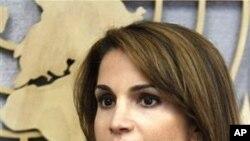 约旦王后拉尼娅9月22日在联合国总部