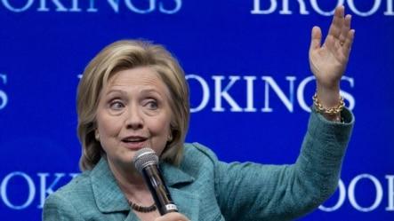 总统参选人希拉里.克林顿(资料照片)