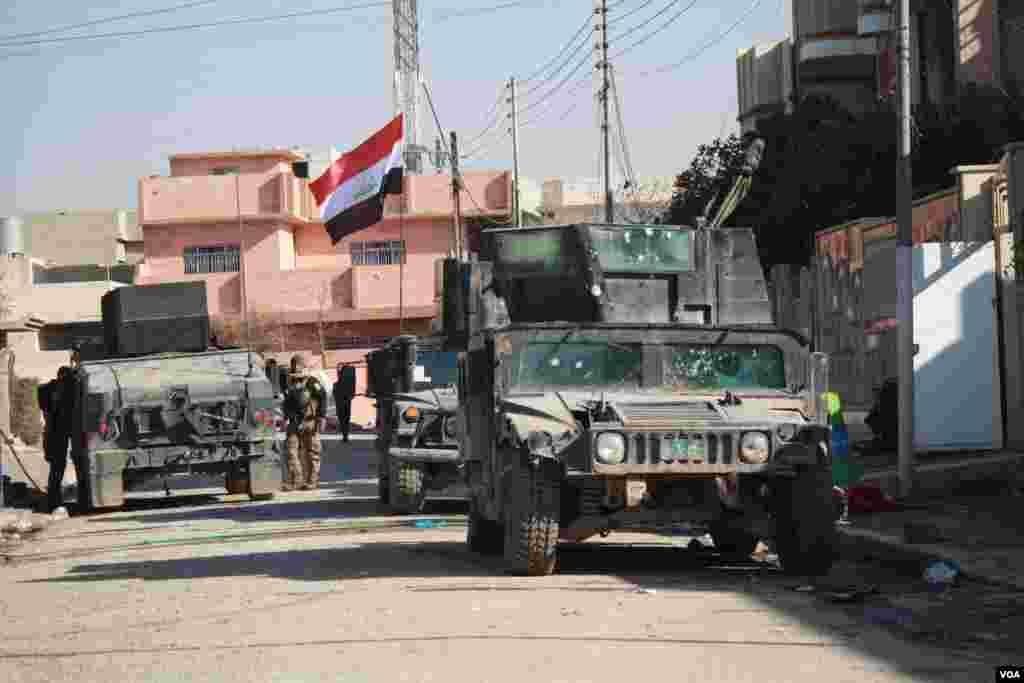 فوج کے انسداد دہشت گردی کے شعبے نے مشرقی موصل میں اپنی کارروائیاں شروع کر دی ہیں۔