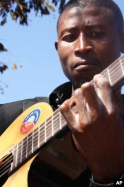 Sipho Dube taught himself guitar in Johannesburg's rough Hillbrow neighborhood, when just a teenager