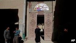 Nhà thờ St. Markos ở Minya, phía nam thủ đô Cairo, Ai Cập, nơi hai cảnh sát bị bắn chết, ngày 6/1/2015.