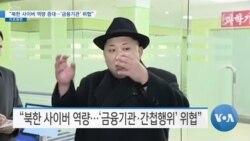 "[VOA 뉴스] ""북한 사이버 역량 증대…'금융기관' 위협"""