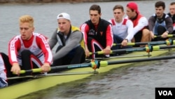 BU rowing team member and undergraduate student Luka Miladinovic.