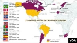 Các quốc gia hợp pháp hóa hôn nhân đồng tính