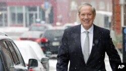 Mantan Gubernur New York, George Pataki, mengumumkan pencalonan dirinya sebagai kandidat Capres AS dari partai Republik, Kamis, 28 Mei 2015 (Foto: dok).