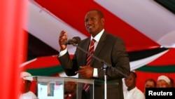 Le vice-président kenyan William Ruto prononce un discours à Nairobi le 1er octobre 2013