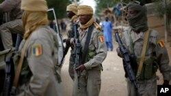 Des soldats tchadiens à Gao le 28 janvier 2013