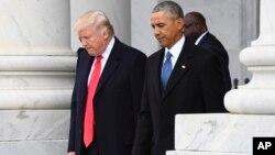 သမၼတ Donald Trump ႏွင့္ သမၼတေဟာင္း Barack Obama