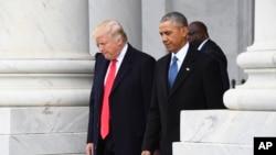 د کمپاین پر مهال د ټرمپ او اوباما ترمنځ سختې خبرې تبادله شوې خو وروسته یې یو او بل ستایلي و.