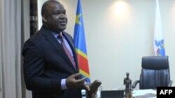 Le président de la Commission électorale nationale indépendant des élections congolaises (Ceni) Corneille Nangaa dans son bureau à Kinshasa le 4 avril 2018.
