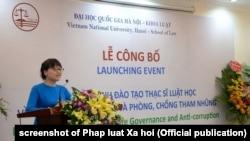 ĐHQG HN công bố chương trình thạc sĩ chống tham nhũng đầu tiên của Việt Nam hôm 2/8/2018.