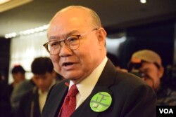 香港特首候選人胡國興。(美國之音湯惠芸)
