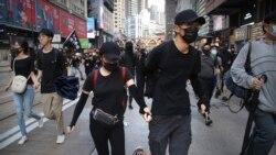 VOA连线(李逸华):《禁蒙面法》满月 香港网民再发起示威抗议
