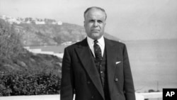 Le président tunisien Habib Bourgiba, Tunis, 16 février 1958.