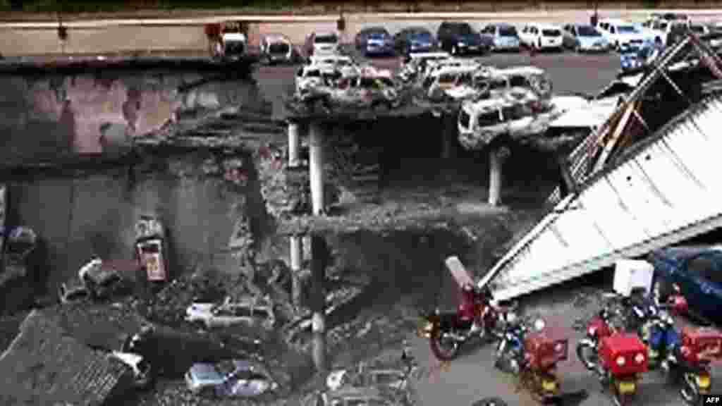 Les dégâts causés par l'attentat au Westgate Mall dans une vidéo publiée par l'armée kenyane, 26 septembre 2013.