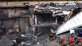 An image grab taken from footage released by the Kenyan military on Sept. 26, 2013 shows the extent of the damage to Nairobi's Westgate Mall after the four-day siege.