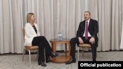 İlham Əliyev və Federika Mogerini