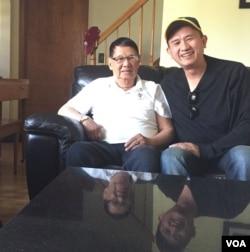 Tướng Lê Minh Đảo và trung tá Nguyễn Anh Tuấn.