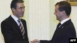 Андерс Фог Расмуссен и Дмитрий Медведев