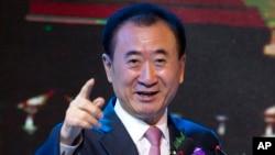 万达集团董事长王健林2016年6月16日在北京的一场签约仪式上(资料照片)。