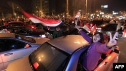 Торжества в Египте по случаю отставки Хосни Мубарака