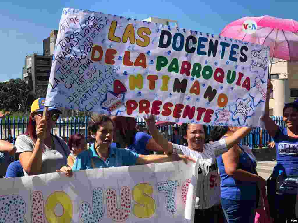 Sánchez advirtió que, de no cumplirse las demandas, van a convocar a una huelga general.