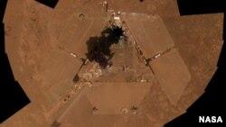 Imagen del Opportunity captada por el propio robot tres semanas antes de cumplir 10 años de vida.