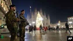 Патруль полиции в Милане