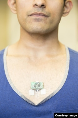Wearable tech like this patch that monitors lactic acid could soon be monitoring thousand of vital signs. Credit: Jacobs School of Engineering/UC San Diego