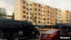 5月22日乌鲁木齐出事后街道上有警车