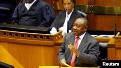 南非新总统拉马福萨在议会讲话(2018年2月15日)