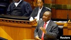 سیریل راماپوسا، رهبر «کنگره ملی آفریقا» حزب حاکم آفریقای جنوبی