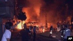 20일 가지안엡 마을에서 쿠르드 반군과 터키 정부군 사이에 일어났던 유혈 충돌. (자료사진)