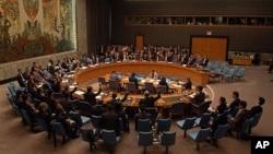지난해 4월 북한 미사일 발사 후, 대북제재안을 논의하기 위해 소집된 유엔 안보리 이사회. (자료사진)