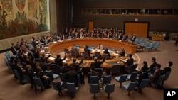 북한 제재안을 논의하는 유엔 안보리 이사회 (자료사진)
