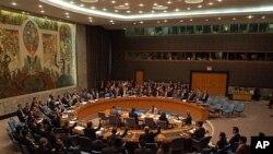 대북제재를 논의하는 유엔 안전보장이사회 (자료사진)