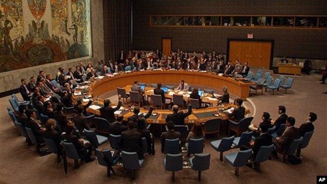 지난해 4월 북한 미사일 발사 이후, 제재안을 논의하는 유엔 안보리 이사회. (자료사진)