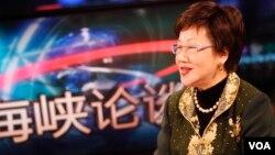 台湾前副总统吕秀莲2013年4月11日接受美国之音专访 (美国之音常晓拍摄)