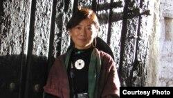 中国藏族作家唯色(资料照片)