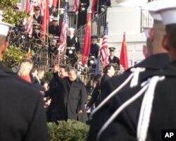 美国白宫欢迎仪式