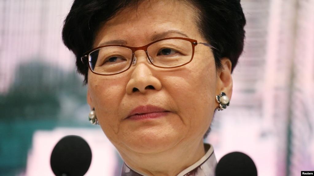 Trưởng đặc khu Carrie Lam.