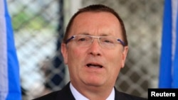 "U.N. Undersecretary-General for Political Affairs Jeffrey Feltman, pictured in June 2013, expressed concern about ""possible ongoing travel ban violations"" by Iran, including by two senior army generals."