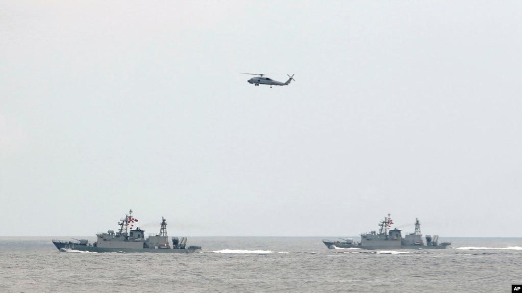 Một cuộc tập trận của hải quân Đài Loan.