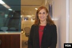 战略与国际研究中心学者葛莱仪接受美国之音采访。(美国之音平章拍摄)