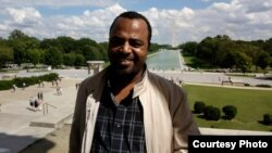 Ethiopan blogger Seyoum Teshome is seen in an undatd photo.