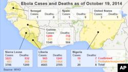 ایبولا تر اوسه پورې په ځپل شویو افریقایی هیوادونو کې پنځه زره تنه له منځه وړي دي.