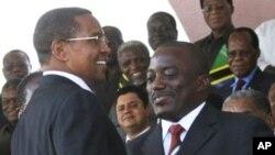 Le président congolais Joseph Kabila à la cérémonie d'investiture de son homologue tanzanien, Jakaya Kikwete
