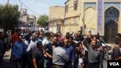 یکی از اعتراضات اخیر در مشهد