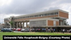 Université Félix Houphouët-Boigny, 14 avril 2016