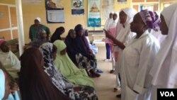 FILE - Pregnant women receive health talks from nurse practitioners in Kaduna, Nigeria. (VOA / S. Elijah)